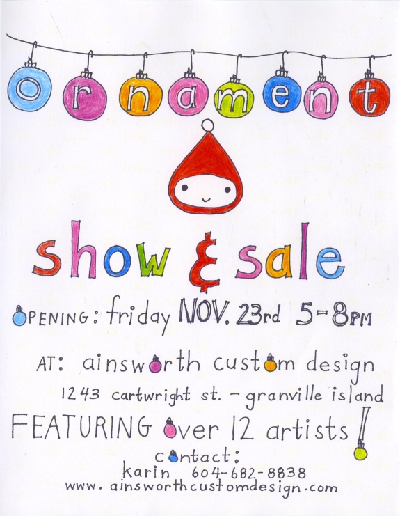 ornament sale - friday, november 23rd, 2012 5-8pm